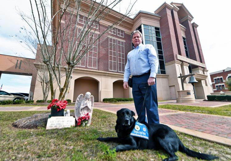 2019 02 23 dothan eagle tony luker and cole wiregrass angel house therapy dog